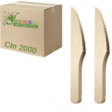 Wooden Knives 165mm (20 x Pk100) Ctn2000
