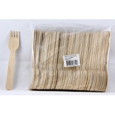 Wooden Forks 155mm Pack 100