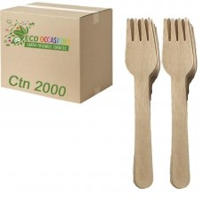 Wooden Forks 155mm (20 x Pk100) Ctn2000