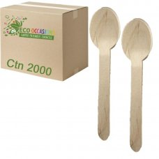 Wooden Spoons 155mm (20 x Pk100) Ctn2000