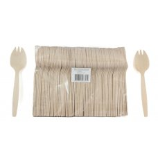 Wooden Sporks 140mm Bag 100