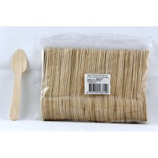 Wooden Tea Spoons 110mm Pack 100