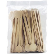 Wooden Swizzle Stick 15cm Bag 100