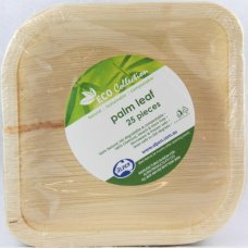 Palm Leaf Square Plate 6inch P25x4