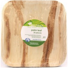 Palm Leaf Square Plate 8inch P25x4