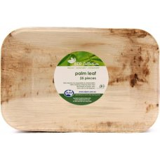 Palm Leaf Rectangle Plate 10x7inch P25x4