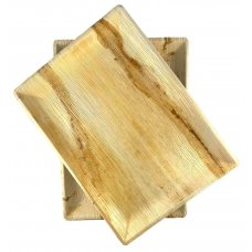 Palm Leaf Rectangle Platter 14.5x10.25inch P10x1