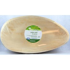 Palm Leaf Oval Plate 12inch P25x4