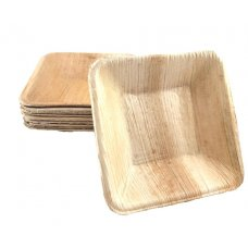 Palm Leaf Square Dip Bowl 3.5inch P10x10