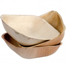 Palm Leaf Square Bowl 5inch P10x10