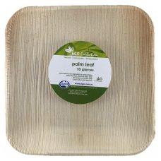 Palm Leaf Square Plate 8inch P10x10