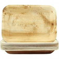 Palm Leaf Rectangle Plate 9x6.5inch P10x10