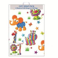 Animals (F416/E/1) Giftwrap 2sheet+Tag
