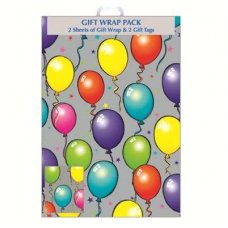 Balloons (F356/D/1) Giftwrap 2sheet+Tag