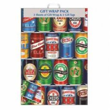 Beer Cans (F317/H/1) Giftwrap 2sheet+Tag