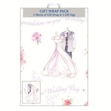 Congratulations on your Wedding Day (F364E1) Wrap 2sheet+Tag