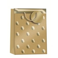 Gold Glitterball (Z409S) Small Gift Bag 1