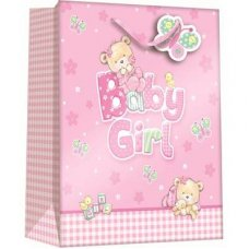 Baby Bear Girl (Z302M) Medium Gift Bag 1