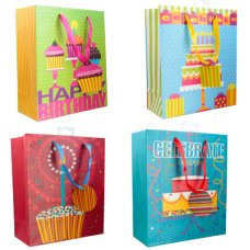 Birthday Celebration 4 Asstd (22387) Gift Bag Medium