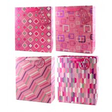 Stylish Pink 4 Asstd (22484) Medium Gift Bag 1