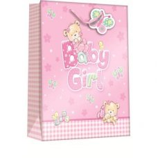 Baby Bear Girl (Z302XL) X-Large Gift Bag 1