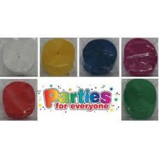 6 Asstd Colours Crepe Streamer P1