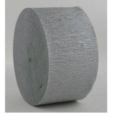 Shimmer Silver Jumbo Crepe Streamer P10