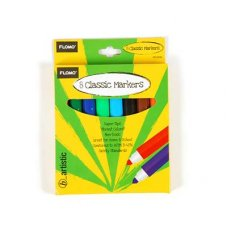 Classic Markers Assorted Colours P8