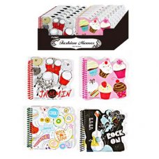Note Books 4 Assorted Designs in Display Box P2