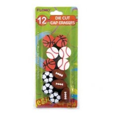 Erasers Sports Shapes P10
