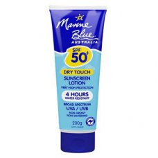 Marine Blue Sun Screen Lotion 50+ Dry Touch 4 Hrs 200g Tube
