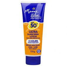 Marine Blue Sun Screen Lotion 50+ Low Irritant4Hrs 100g Tube
