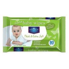 Royale Baby Wipes Aloe Vera & Chamomile Pk80 x 18