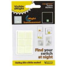 Find at Night Visible 247 Switch Markers Pk 6