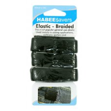 Elastic Braided Black 20mmx3m P1