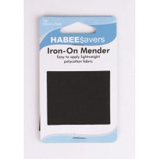 Iron On Menders Light Weight 24x9cm Black P1