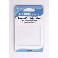 Iron On Menders Light Weight 24x9cm White P1