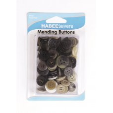 Buttons Mending Assorted Sizes & Colours Box80