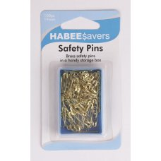 Safety Pins Brass 19mm P100