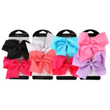 Duck Clip Large Bows Asstd Colours P2