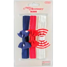 Headband Elastic with Bows for Kids Assorted P3