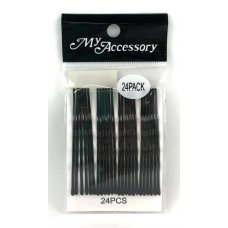 Bobby Pins Long Black P24