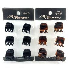 Melrose Clips 2cm Mini Black & Tortise Shell Asstd P6