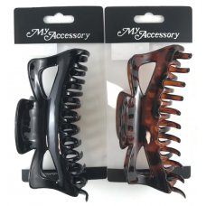 Melrose Clips 14cm Black & Tortise Shell Asstd P1