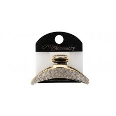 Melrose Clip 10.5cm Gold with stones P1