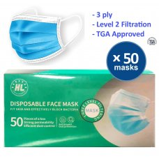 Face Masks 3ply Level 2 TGA Approved Box 50