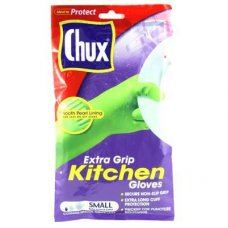 Chux Extra Grip Latex Gloves Small 1 Pair