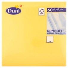 Napkin Dunisoft 40cm Yellow 1/4 Fold Ctn720