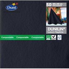 Napkin Dunilin 40cm Black 1/4 Fold Ctn600