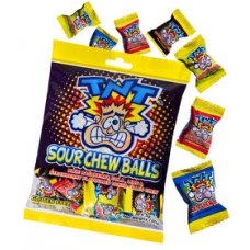 TNS Sour Chew Balls 150g Box 12